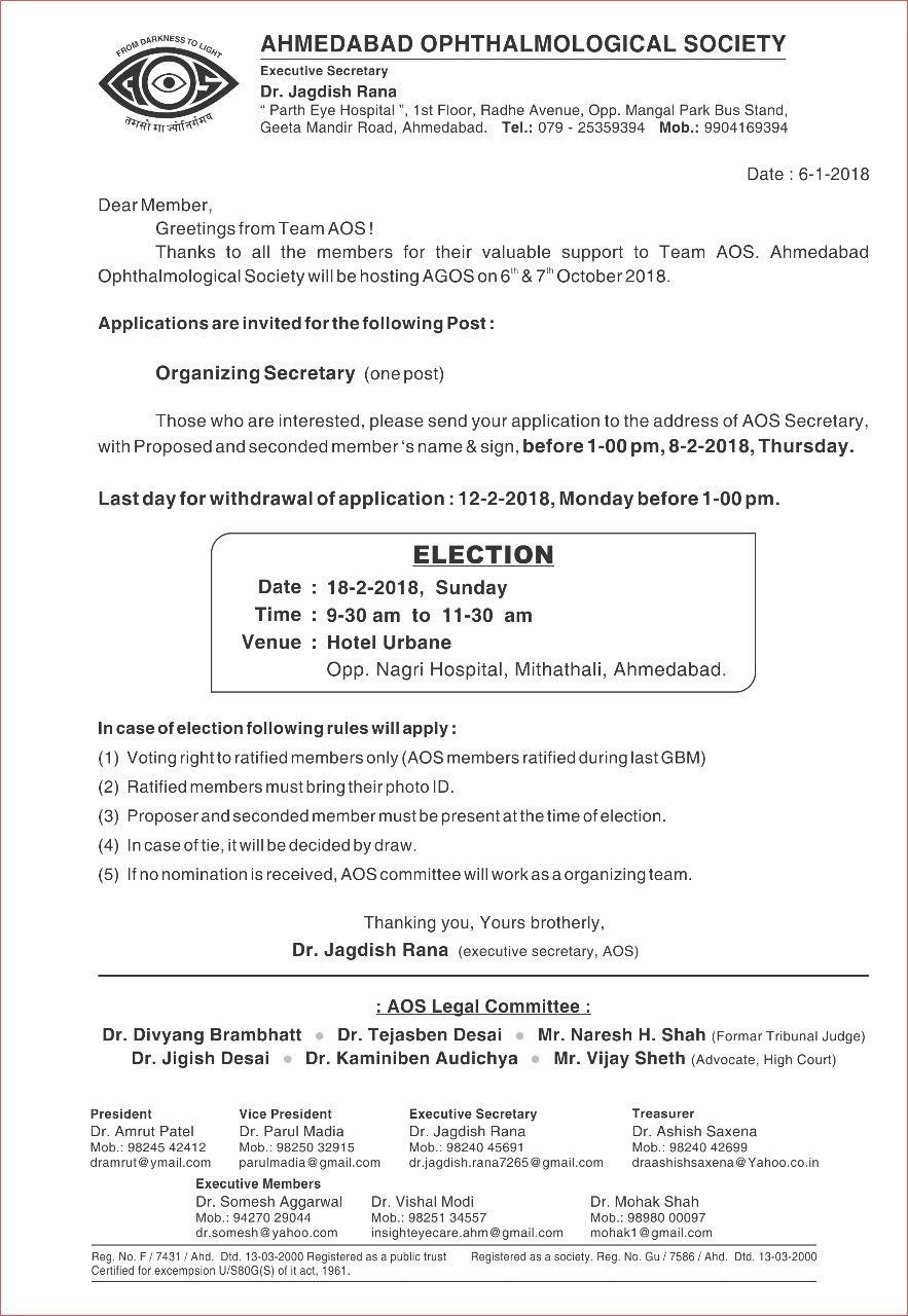 Election For Organizing Secretary
