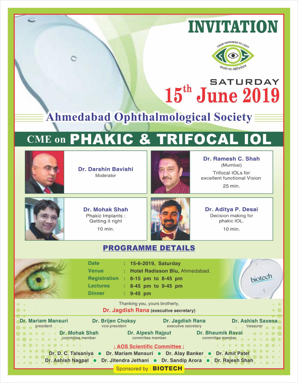 CME on PHAKIC and TIRFOCAL IOLs